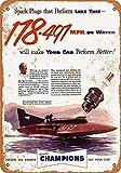 1952年のチャンピオンスパークプラグボートレースのグッズウォールアート