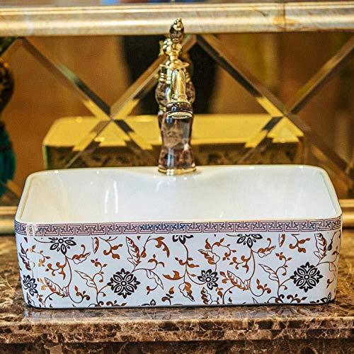 Rechteckige Form Europa-Art-Waschbecken Sink Art Gegenober Keramik Waschbecken Waschbecken Waschen Schön