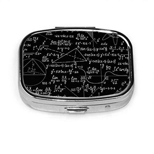 Educación matemática Complicada Matemática Genius Píldora Estuche Píldora de moda Estuche para tableta Estuche organizador de billetera Estuche para bolsillo o bolso