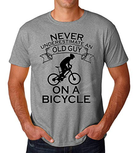Sheki Apparel Never Underestimate an Old Guy On A Bicycle Funny Cycling Tank Top