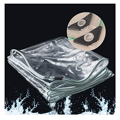 YYFANG Lona De Protección, Lona De PVC Transparente Resistente Al Polvo Y A La Lluvia, con Toldo De Ventilación Y Lona, Cubierta De Planta Plegable con Cuerda, 32 Tamaños