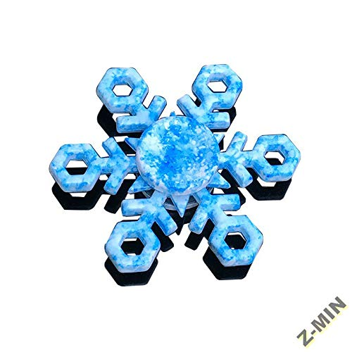 Z-MIN Buntes Fingerspitzen-Dekompressionsspielzeug aus Gyro-Zinklegierung, Ts8-Eis-Schneekristall