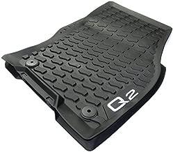 Original Audi Q2 Gummi Fußmatten Allwettermatten Gummimatten 2-TLG vorn schwarz 81B061501 041