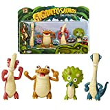 """Gigantosaurus Character Figures 4 Pack with Articulated Arms & Tails, Dinosaur Toys Stand Approx. 3-3.5"""" Tall, Dino Toy Figures for Boys & Girls 3 Years Old & Up"""