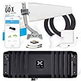 Cel-Fi GO X | The Only 100 dB Single-Carrier Cell Phone Signal Booster for Homes & Offices | Verizon, AT&T, Or T-Mobile | 1 Antenna Kit