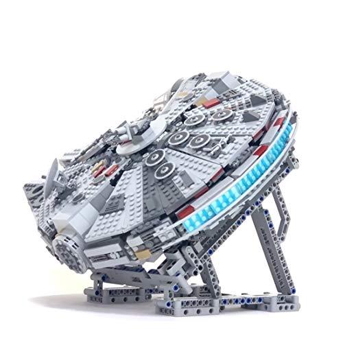 KEAYO Soporte para Lego 75257 Halcón Millennium Milenario, con bloques de construcción personalizados, para Lego Star Wars Millennium Falcon 75257 (sin juego de Lego)