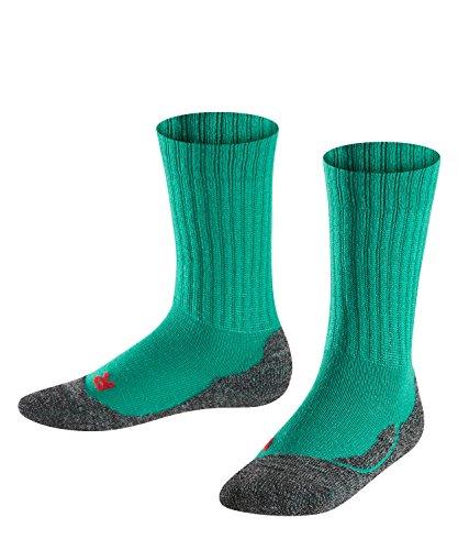 Falke Unisex Kinder Socken, Active Warm K SO -10450, emarald, 19-22