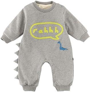 Fairy Baby Infant Baby Boy Girl Outfits Cartoon Dinosaur Romper Winter Fleece Jumpsuit