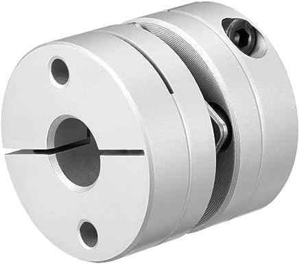 10 mm x 12 mm, eje de motor ajustado, 2 diafragmas, L49xD39 Acoplador de diafragma Sourcingmap