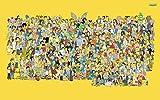 Y-fodoro Simpsons Jigsaw Puzzles Puzzle, Cartoon Movie Adultos Rompecabezas de Madera de 1000 Piezas, Niños Adultos Cumpleaños de Navidad Regalo del día de los niños