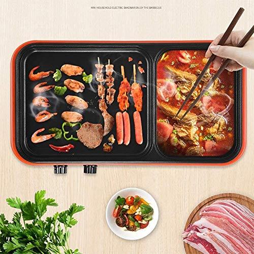 ZHLFDC Indoor Smoke Free Multifunktions-Elektrogrill, 1700W Barbecue Grill, Energieeinsparung, einfach zu Clean Design, 220V, 39 cm x 22 cm x 6 cm