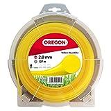 Oregon 69-358-Y Fil de coupe rond jaune, 2,0mm, rouleau de 127m