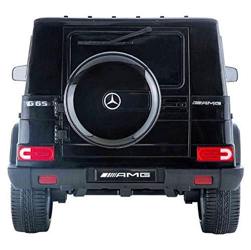 RC Auto kaufen Kinderauto Bild 2: moleo Mercedes G65 AMG Kinder Auto Elektroauto Kinderauto Kinderfahrzeug Elektrofahrzeug mit LED-Beleuchtung, verschiedenen Sound- und Lichteffekten 2.4 GHz, Antrieb: 2X 45W Motor, (Black)*
