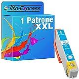 Tito-Express ProSerie 1 Druckerpatrone passend zu Epson T2632XL 26 XL mit 12,5ml Cyan XXL-Inhalt XP-510 XP-520 XP-600 XP-605 XP-610 XP-615 XP-620 XP-625 XP-700 XP-710