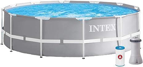 Intex Schwimmbecken Pool Durchmesser 366 x 99 cm Frame Pool Set Prism Rondo 26716