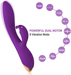9 Powerful Vibration Modes, Portable Personal Rechargeable Massager, Handheld Cordless Waterproof Massager Therapy Back Neck Muscle Aches Sports Recovery, Quiet (Purple)