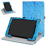 Mama Mouth 360 Degree Rotating Stand with Cute Pattern Case for 8' Nextbook Ares 8 (NXA8QC116) / Flexx 8 (NXW8QC132) / Nextbook 8 (Old Version NXW8QC16G) Windows 8.1 Tablet,Blue