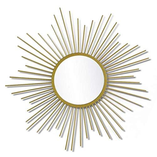 BXU-BG De Pared en Forma de Espejo de Sol bellamente Decoradas Champagne Espejo del Oro colgados de la Pared Espejo de Pared