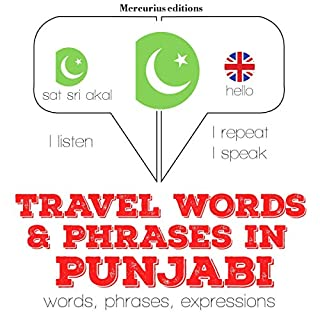 Travel words and phrases in Punjabi audiobook cover art
