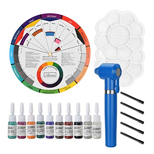 HEALLILY Professionelle Tattoo Pigment Ink Mixer Farbmixer für Tattoo Body Art Make-up Zubehör ohne Batterie (blau)