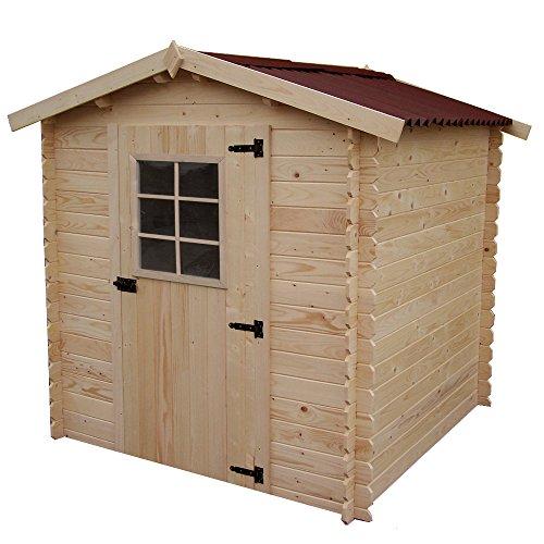 Box Casetta in legno 200x200xh197cm + pavimento giardino ripostiglio VD2020.01N