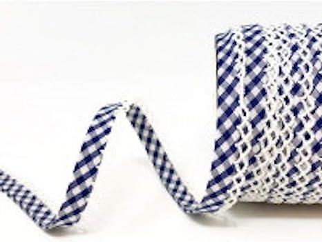 Rosa und Lila Blumen-Design 12 mm x 1 Meter Gemustertes Schr/ägband mit Spitzenkanten Plush Addict