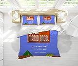 Juego de sábanas de Super Mario Bros, 3 piezas, juego de cama tamaño king para cualquier habitación o habitación de invitados