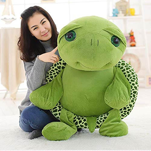 ATA19 - Stuffed Animals - 80cm 100cm Large Plush Toy Lovely Big Eyes Tortoise Soft Stuffed Animal Cushion Soft Small Sea Turtles Dolls for Kids Gift