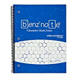 BENZNOTE, Spiralblock für Organische Chemie und Biochemie, 8-1/2' x 11', Hexagon-Grafikpapier,...