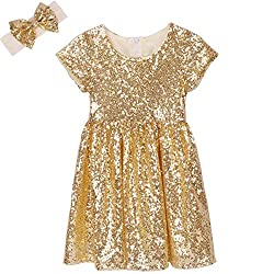 Gold Toddlers Sequin Dress
