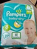 Pampers' größte Größe. Pampers Baby Dry Windeln, Größe 8, 27 Stück