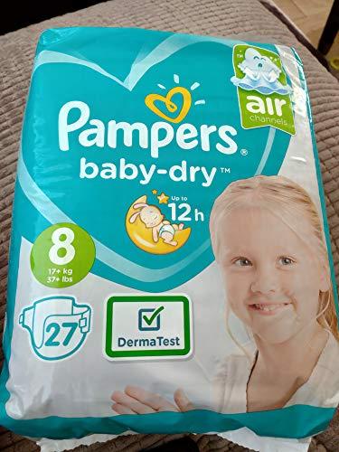 Pampers Baby Dry Windeln, Größe 8, 27 Stück