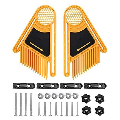Herramientas de carpintería 2pcs DIY tablas de canto biselado circular eléctrica Mesa de aserrar Sierras doble de usos múltiples herramientas de la máquina de grabado de madera de trabajo