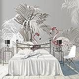 Fotomural Papel Pintado Flamenco Rosa Fotomural Para Paredes Mural Vinilo Decorativo Decoración Comedores, Salones,Habitaciones-350x250 cm