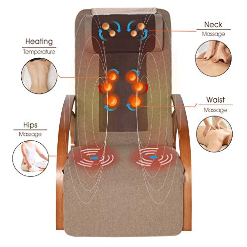 OWAYS Massage Chair 3D Full Back Massager with Cushion, Rocking Design Recliner Chair, Adjustable...