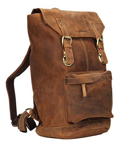 Greenburry Vintage Retro Backpack Leather 42 cm