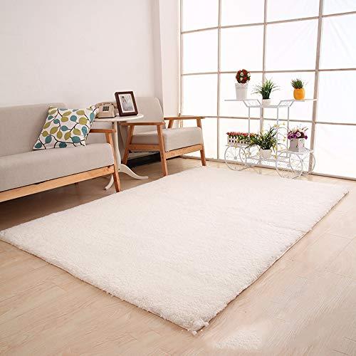 LUOLONG Tapijt, Rechthoekig tapijt, Woonkamer Slaapkamer Dekbed Studie Bureau Matten Stoelen Opknoping Mand Computer Bench Deken Tapijt, Wit