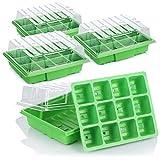 com-four® Invernadero Interior 4X para Plantas en Crecimiento - Conjunto de Cultivo para 48 Plantas - Caja de Plantas para el hogar (04 Piezas - invernaderos Interiores medianos)