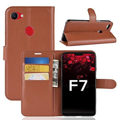 AIOIA Hülle für Oppo F7,PU Leder Hülle Tasche Schutzhülle Handyhülle für Oppo F7