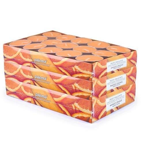 pajoma 90 Duft Teelichter 3x30 Stück Duftkerzen viele Düfte wählbar (Mango-Orange)