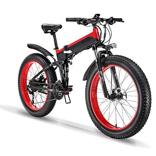 Jakroo 26'1000W Extraíble Batería de Iones Litio, Potencia de La Bicicleta Eléctrica Ayudar A La Bicicleta de Montaña, Ebikes de Aleación Aluminio Bicicleta Eléctrica