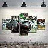 wmcz Décor à la Maison Impression sur Toile Peinture De Voiture Abstraite Mur Art...
