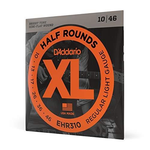 D'Addario EHR310 Half Round Electric Guitar Strings, Regular Light, 10-46