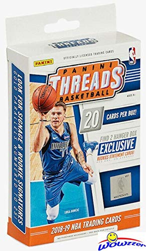 2018/19 Panini Threads NBA Basketball Factory Sealed HANGER Box with (2) EXCLUSIVE Rookie Statement Cards! Look for Rookies & Autos of Luka Doncic, Trae Young, Deandre Ayton & More! WOWZZER!