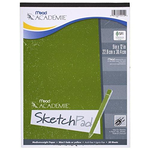 Mead Académie Sketchbook / Sketch Pad, 50 Sheets, 9 x 12 Inch Sheet Size (54012)