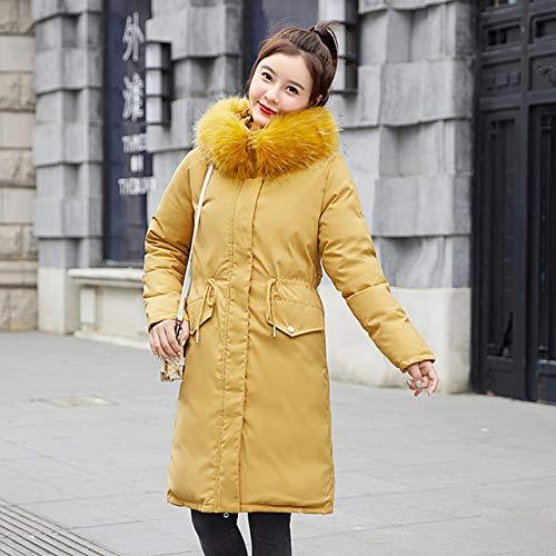 WFSDKN Down jas Bont kraag Down 2019 Winter Jacket Vrouwen Losse Lange down katoenen jas Plus fluweel donsjack Dik Warm Down Parka