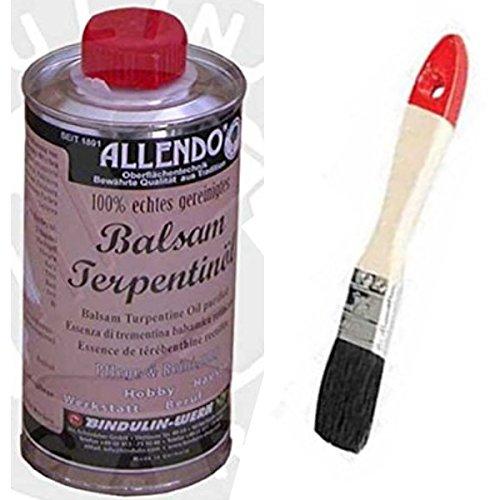 Balsam-Terpentinöl naturreines äther. Kiefernöl mehrfach rektifiziert inkl.1 Pinsel zum Auftragen (250 Gramm)