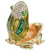 Lafey Rana de Esmalte, Adorno de Esmalte, Regalos Accesorios Decorativos para los Amigos de la Oficina en casa(Green)