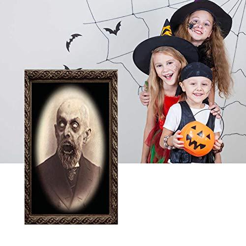 1 PC Decoración De Halloween 3D Modificación Del Marco Frontal Fotos Marco De Foto Horrible Retrato Spooky Marco De La Foto Del Horror Partido De La Decoración Estilo Fuentes 4