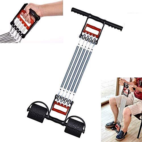 YWYW Power Twister Multifunktion 3 in 1 Spring Exerciser Brust Expander Klimmzugstangen, Armtraining Muskeltraining, Stahl, Bauchmuskel Arm zurück